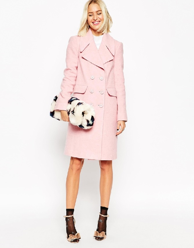 ASOS Coat With 60's Collar