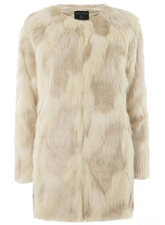 Cream-Camo-Fux-Fur-Coat