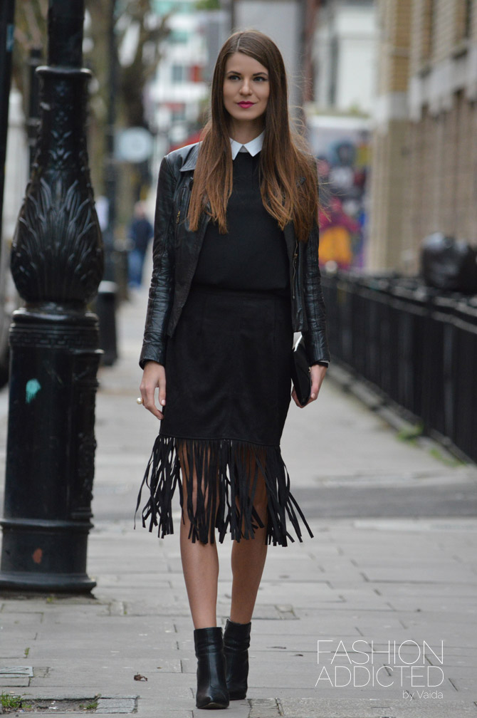 Fringe-pencil-skirt