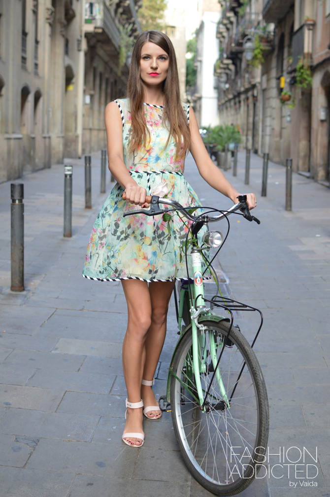 asos green floral dress