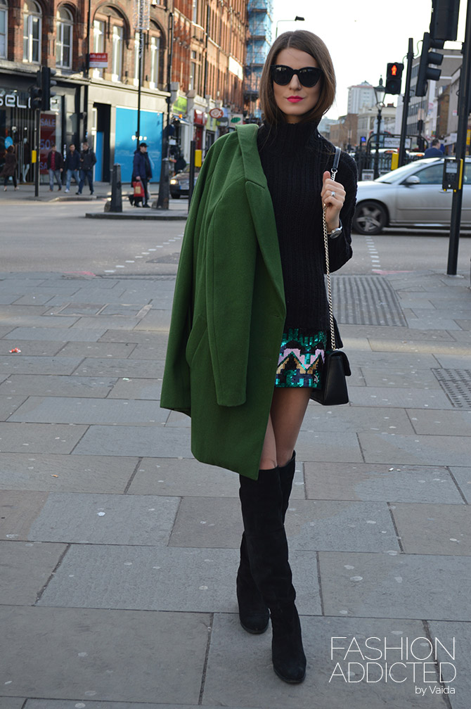 H Amp M Green Sequin Skirt Fashion Addicted