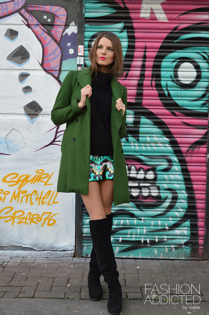 H&M-green-sequin-skirt