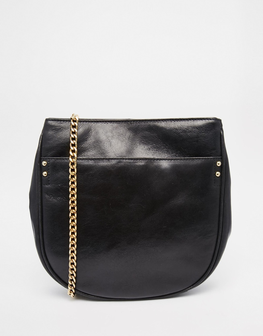 Urbancode Leather Half Moon Bag With Chain Strap
