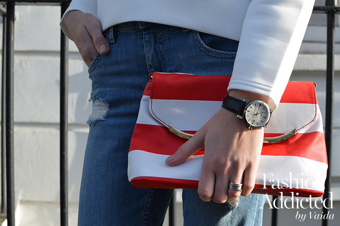 Ruffle-Sleeve-Sweater-red-stripe-bag