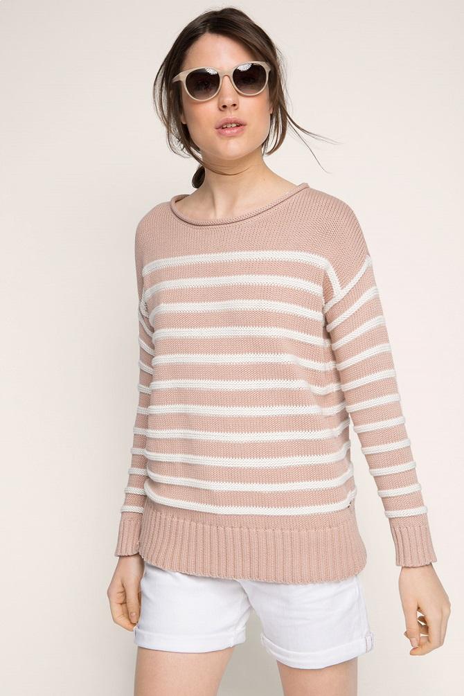 Esprit-Striped-jumper-cotton
