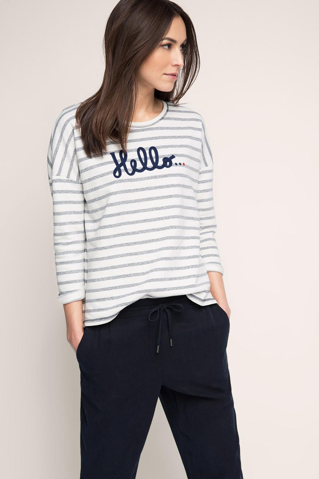 Esprit-Striped-sweatshirt-in-cotton