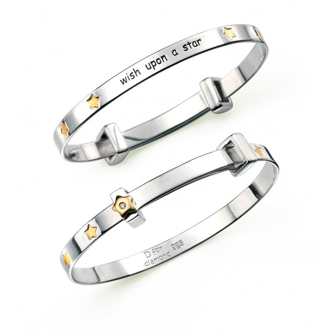 burns-jewellers-d-for-diamond-silver-and-gold-plated-wish-upon-a-star-bangle