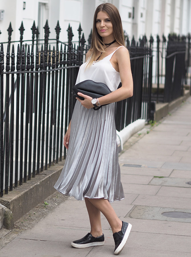 how-to-wear-metallic-skirt-missy-empire
