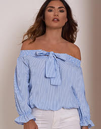 lasula-Off-Shoulder-Top-Striped-Blue-1