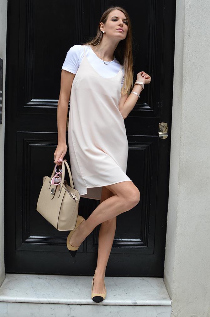 pink-slip-dress-zara-two-tones-shoes-1