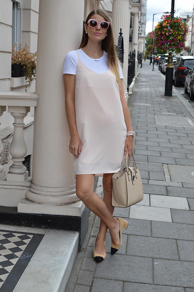 pink-slip-dress-zara-two-tones-shoes-2