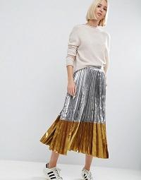 pleated-midi-skirt-metallic