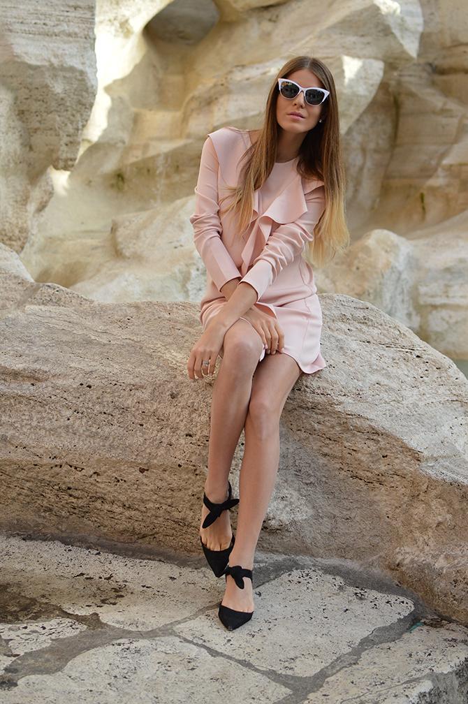 asos-shift-dress-with-ruffle-pink