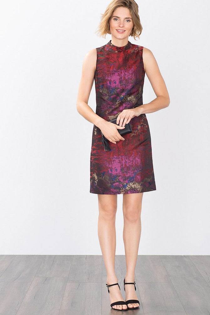 esprit-multi-coloured-jacquard-shift-dress-1