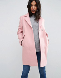 asos-slim-coat-with-pocket-detail-pink