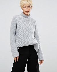 weekday-roll-neck-jumper-grey