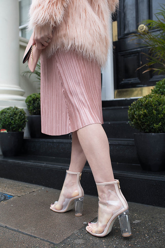 boohoo-maternity-dress-perspex-heel-boots