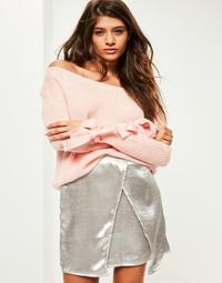 pink-tie-sleeve-jumper