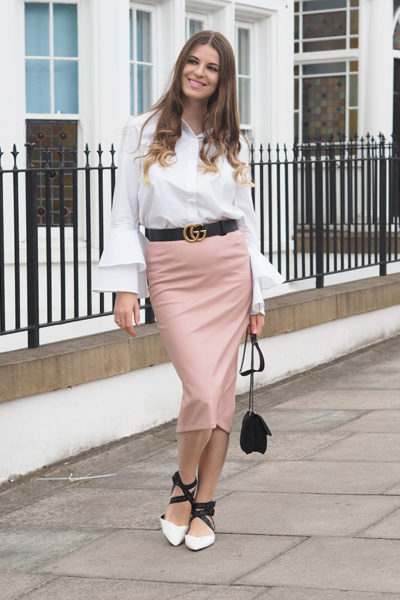 Ruffle-sleeve-shirt-gucci-marmont-belt-fashion-blogger-london