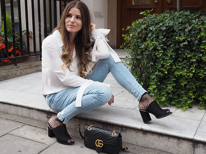 Deichmann mules gucci marmont bag fishnet socks fashion blogger london - Что такое мюли и с чем их носить?