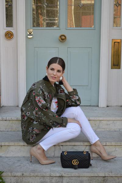 zara-sale-khaki-embellished-jacket-gucci-marmont-bag-fashion-blogger-london-3