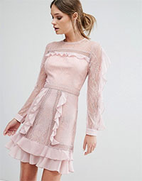true-decade-ruffle-dress-pink