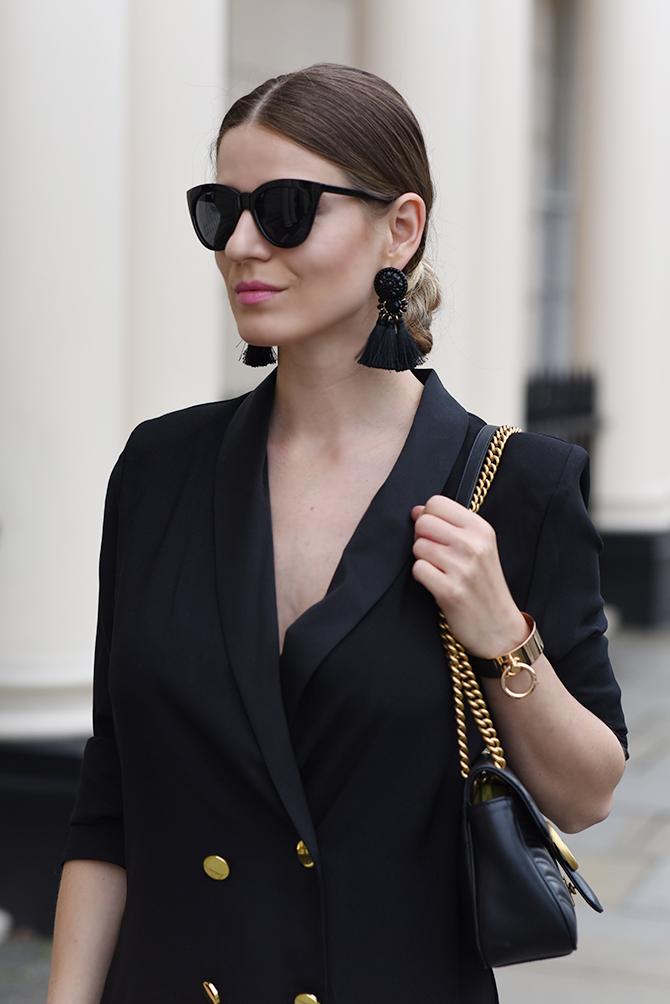 tuxedo-dress-tassel-earrings