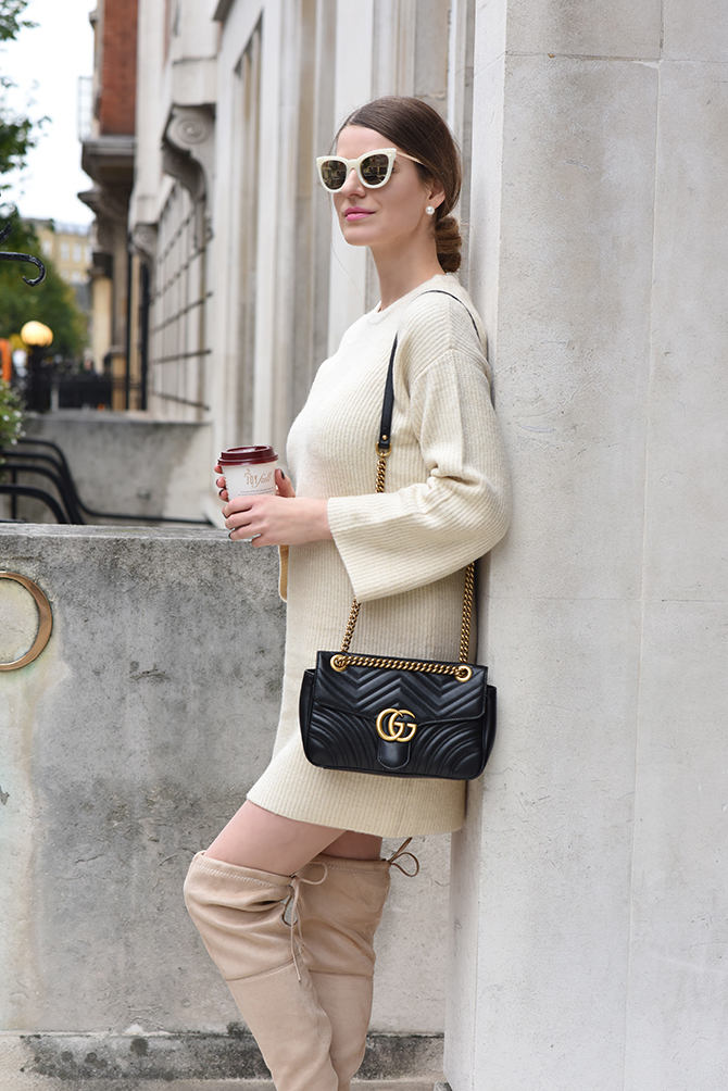 9c0864a33 gucci-marmont-bag-knit-dress-fashion-blogger-london-2 - Fashion Addicted