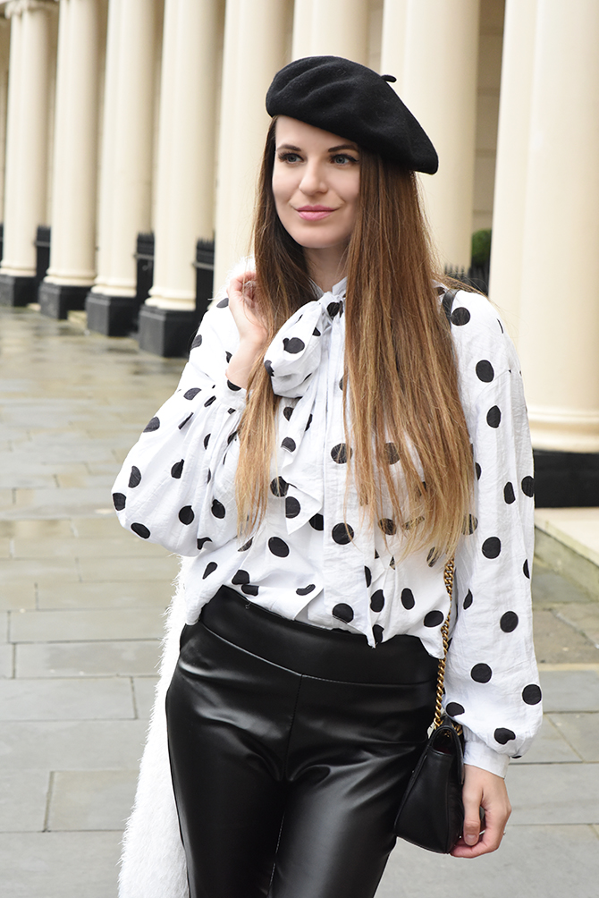 how-to-wear-a-beret-polka-dot-shirt-4