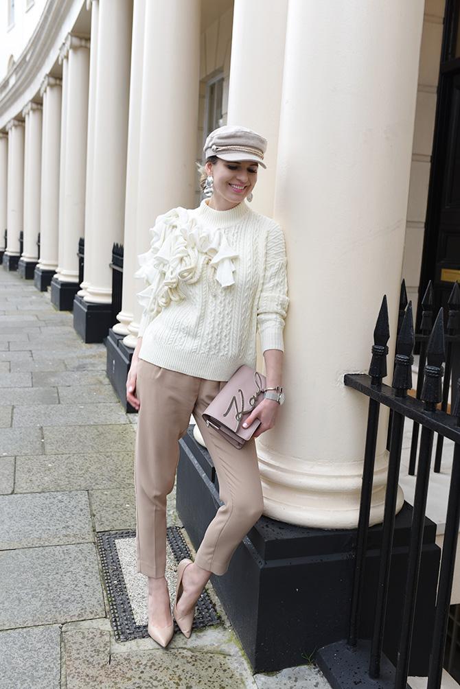 karl-lagerfeld-signature-bag-fashion-blogger-london-spring-trends-baker-boy-hat