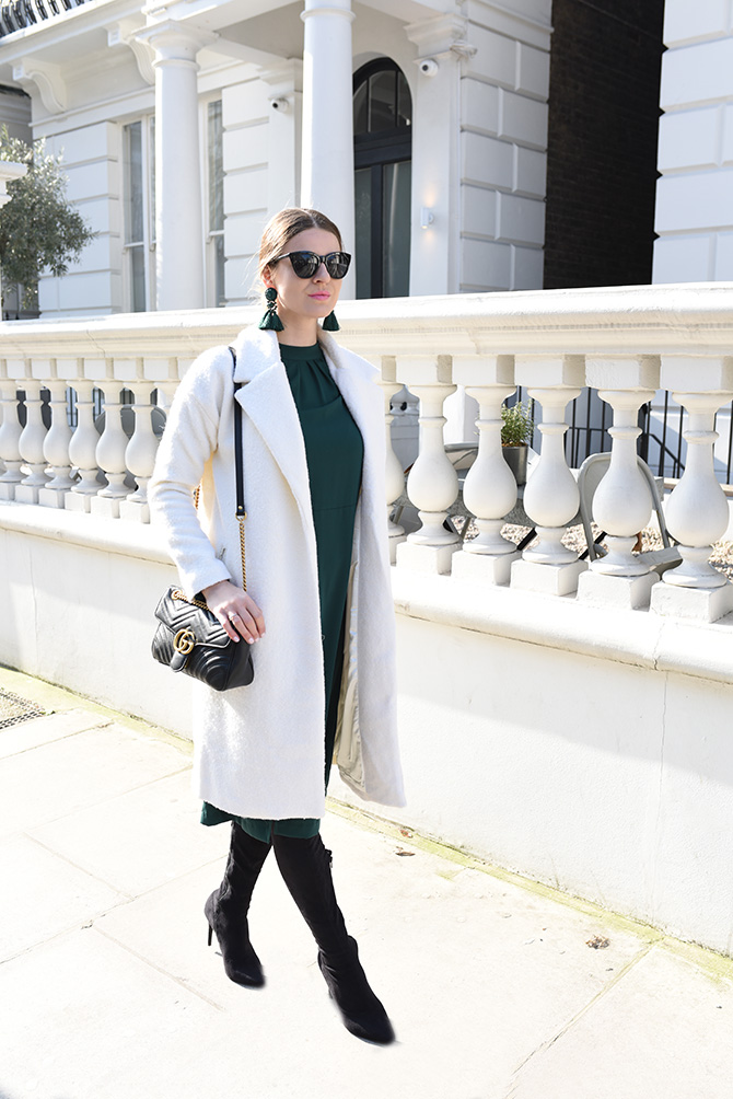 how-to-wear-emerald-green-gucci-marmont-bag