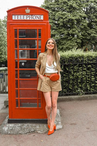 linen-shorts-suit-women-red-belt-bag-amazon-fashion-blogger-london-2