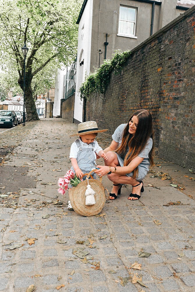 white-company-linen-dress-straw-bag