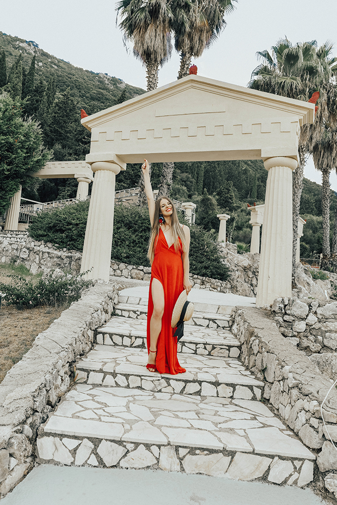 red-maxi-dress-pretty-little-thing-greece-holiday-2