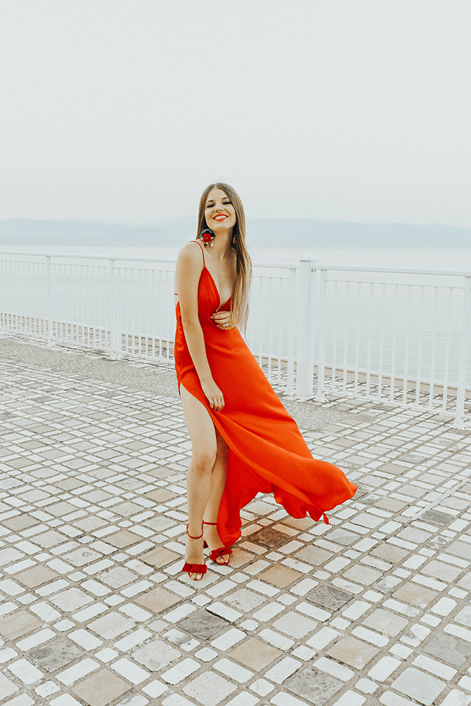 red-maxi-dress-pretty-little-thing-greece-holiday