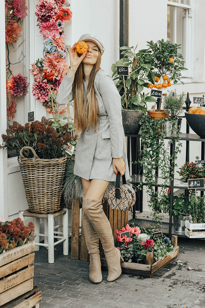 check-blazer-dress-snake-handbag-fashion-blogger-london-3