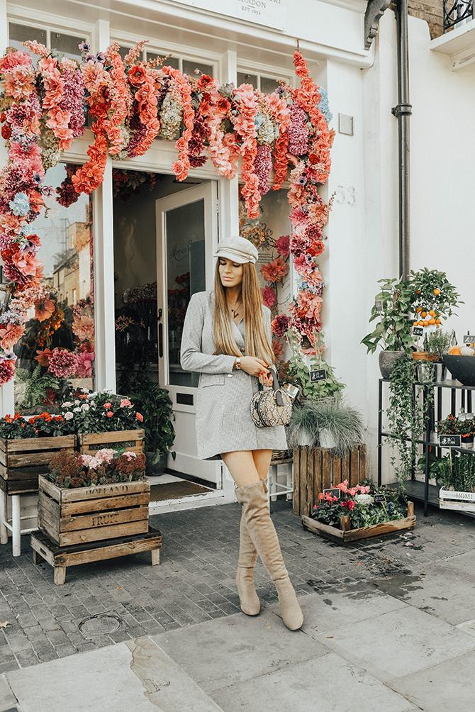 check-blazer-dress-snake-handbag-fashion-blogger-london-4