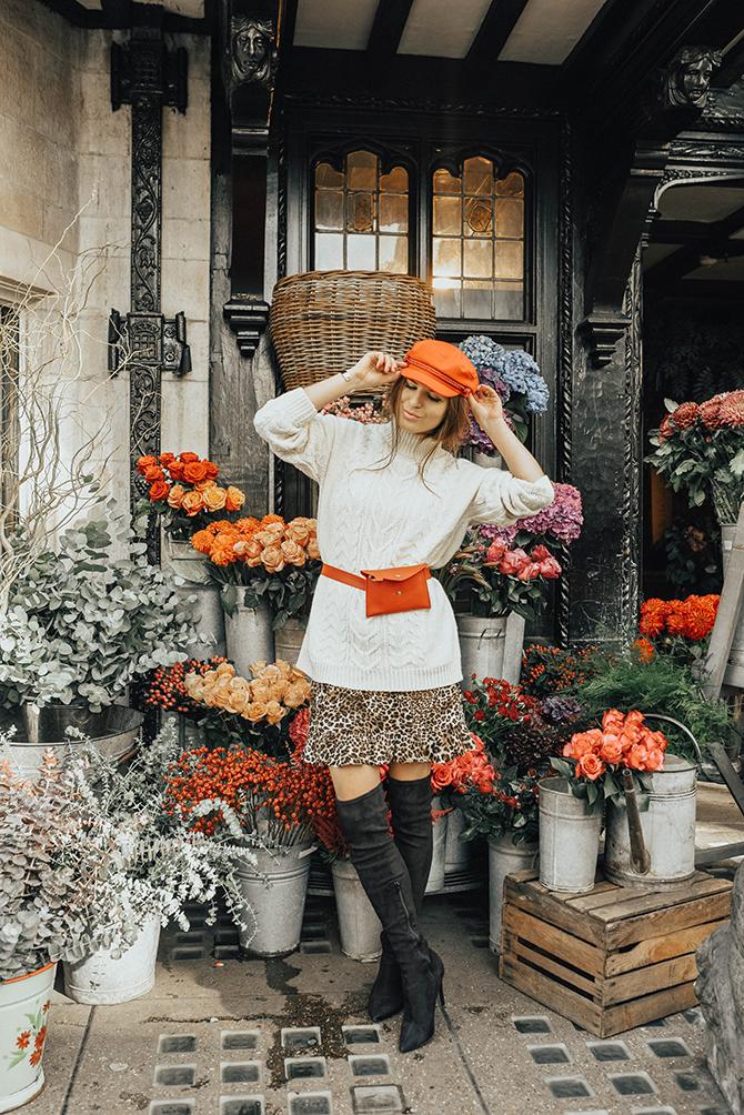 cable-knit-jumper-10store-fashion-blogger-london-leopard-skirt-red-belt-bag-captain-hat-2