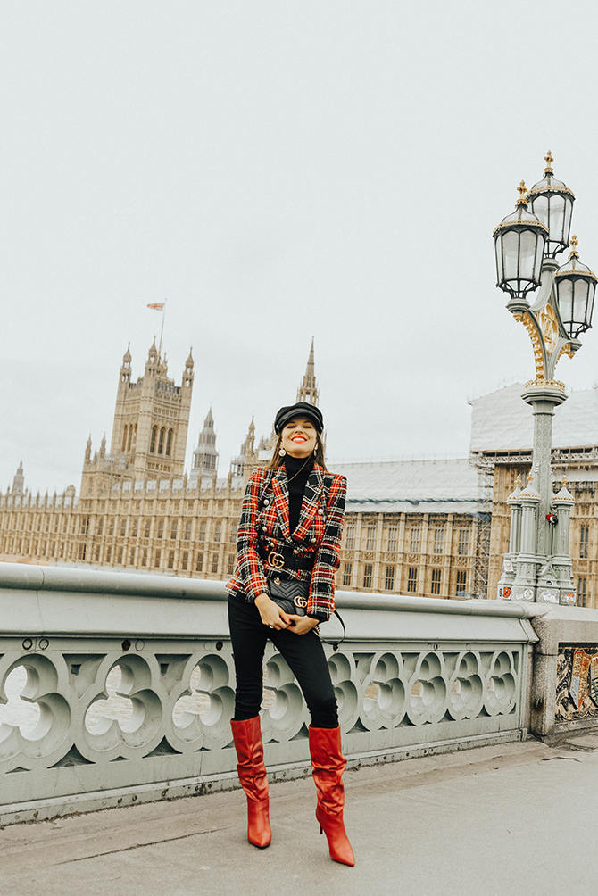 how-to-wear-tartan-blazer-gucci-handbag-good-american-jeans-baker-hat-fashion-blogger-london-7