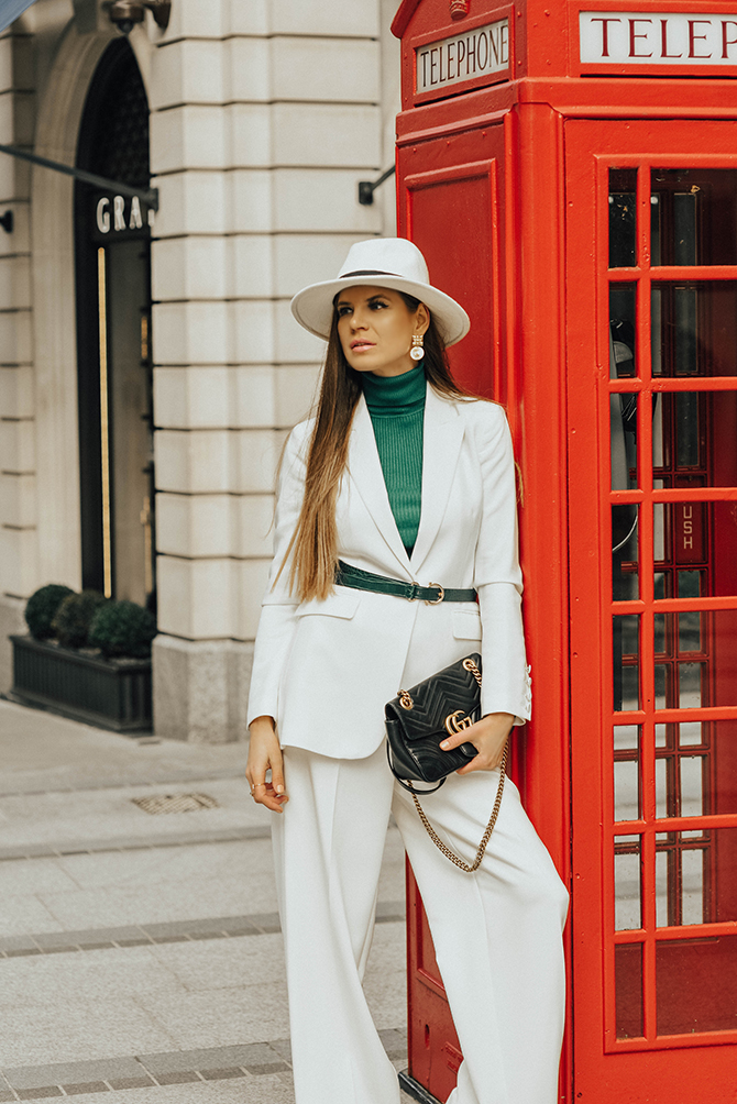 White-Trouser-Suit-marks-and-spencer-green-court-shoes-fashion-blogger-london