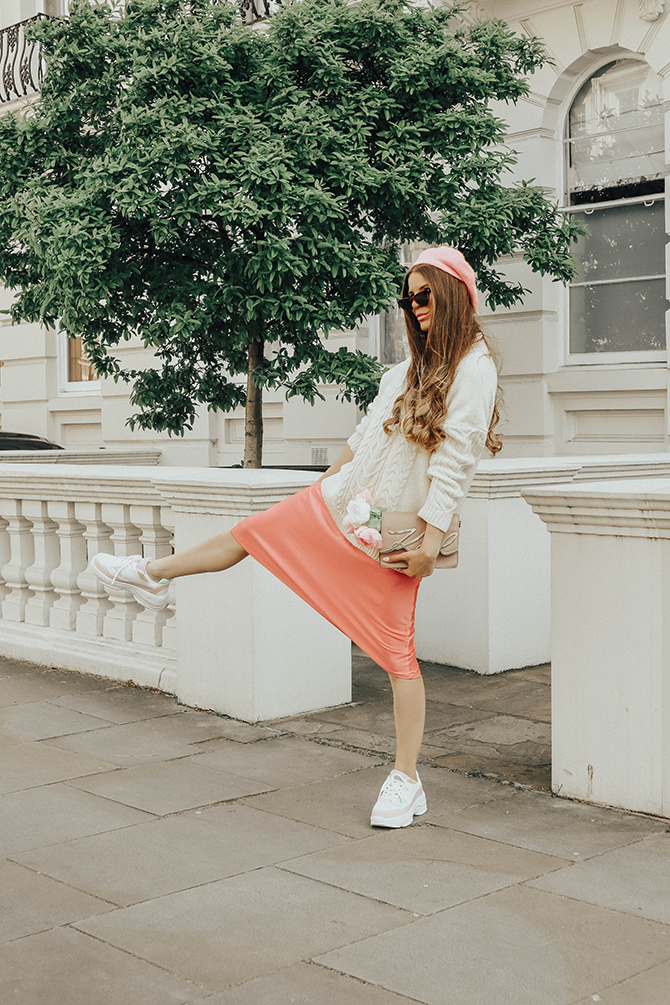satin-slip-skirt-pink-new-look-chunky-trainers-karl-lagerfeld-signature-bag-fashion-blogger-london-5