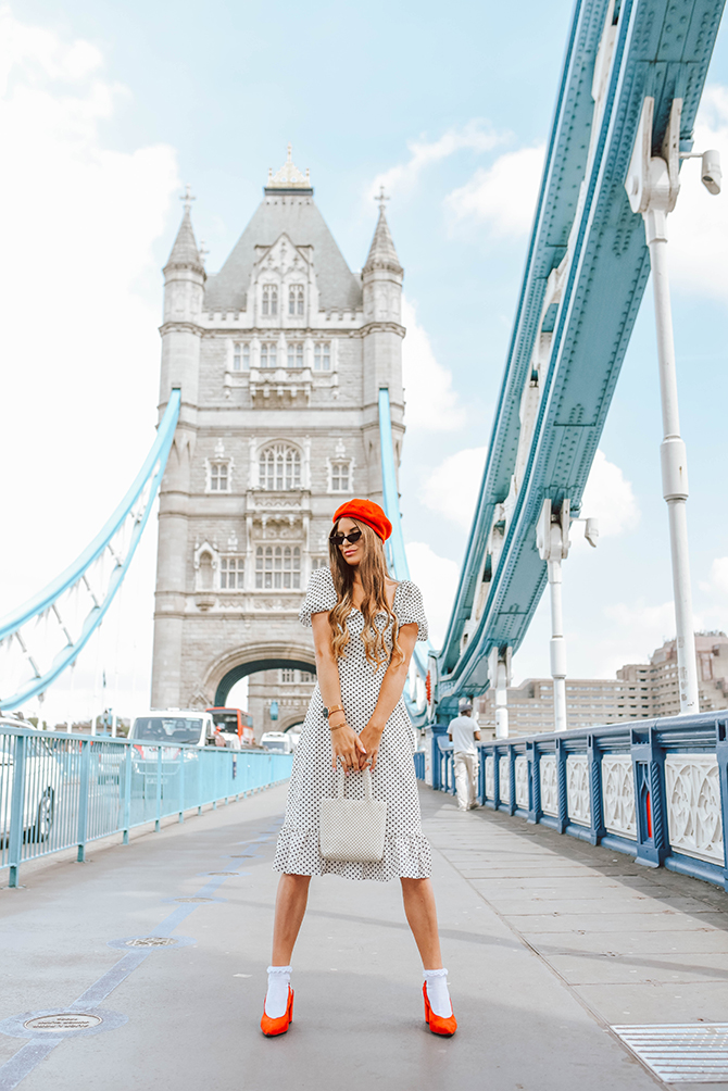 polka-dot-dress-red-beret-fashion-blogger-london-tower-bridge-2