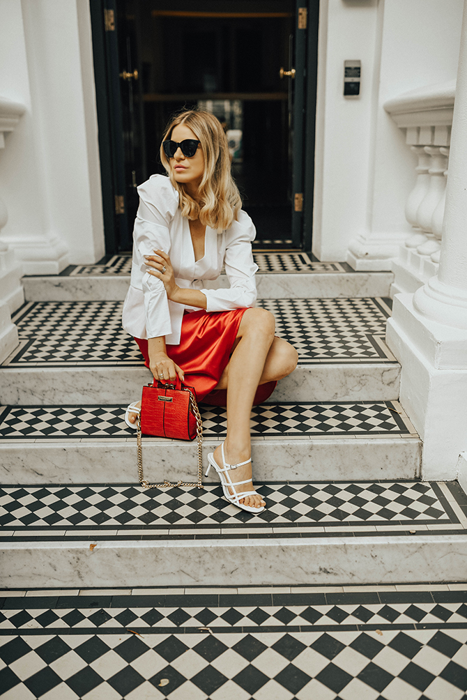 red-slip-skirt-river-island-belted-puff-shoulder-shirt-fashion-blogger-london-notting-hill