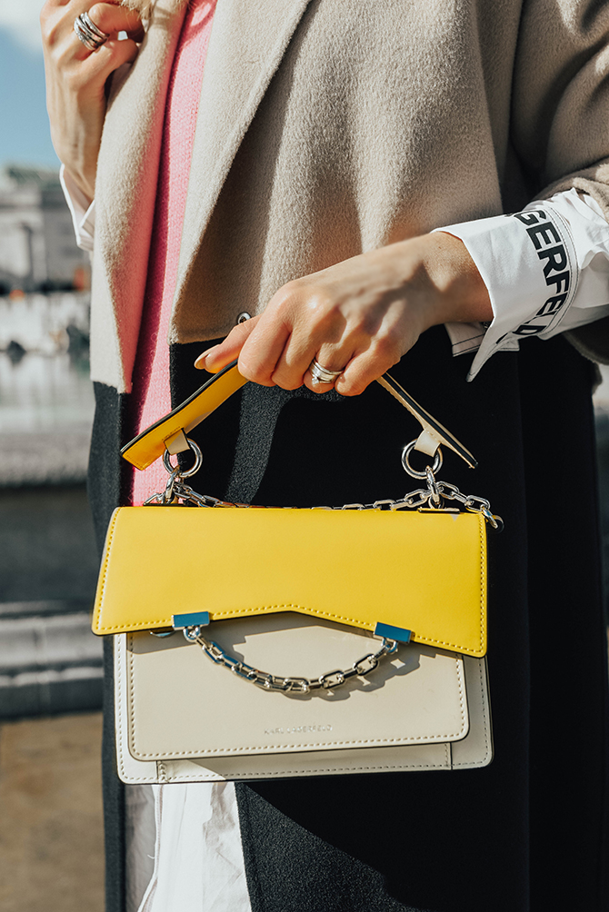 karl-lagerfeld-ss2020-collection-colour-block-bag-yellow-fashion-blogger-london