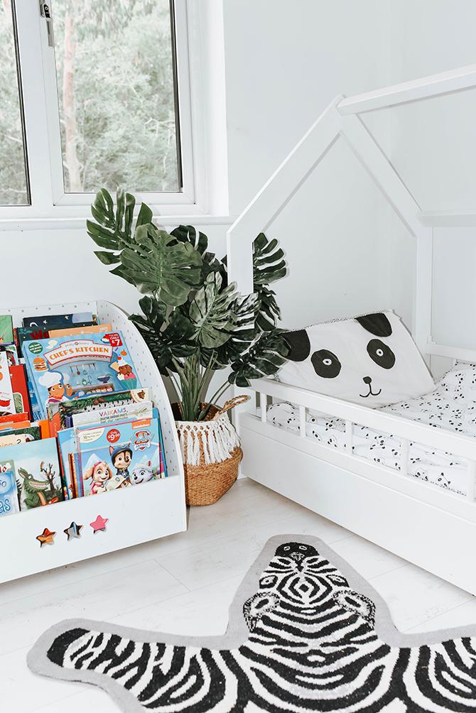 kids-bedroom-nursery-ideas-amara-living-zebra-rug-house-bed-frame-children