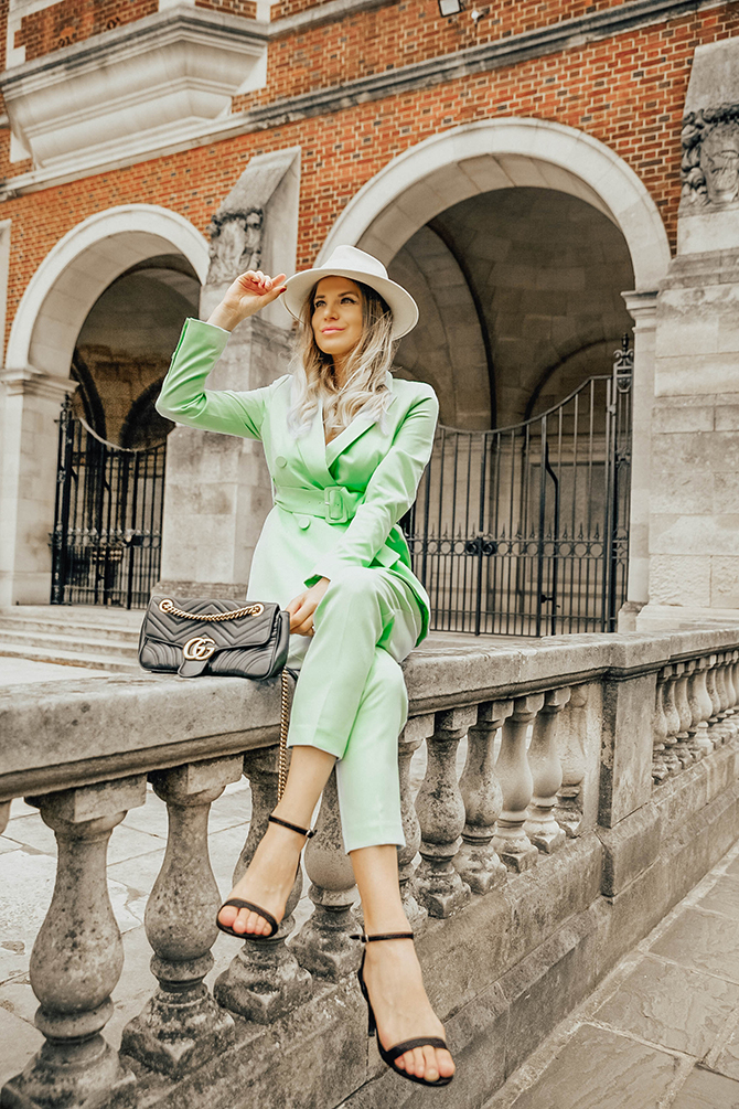green-suit-women-new-look-fashion-blogger-london-gucci-marmont-bag-harrow