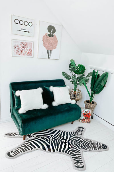 loft-conversion-home-office-renovation-london-house-blogger-green-sofabed-made